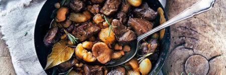 Recette d'automne : Chevreuil rôti aux champignons & chataignes